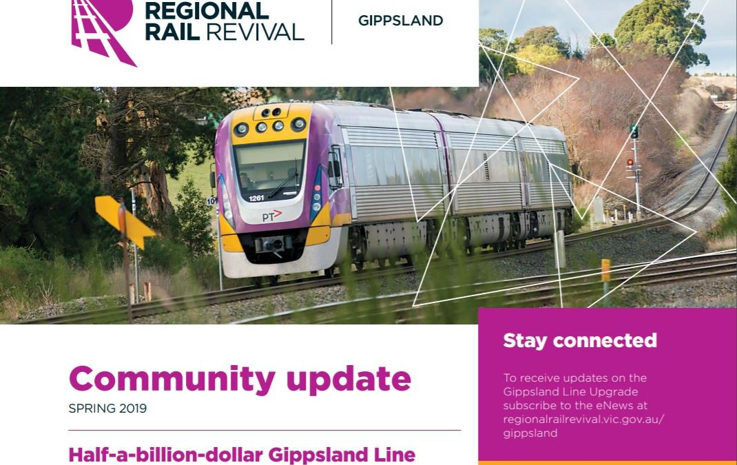 $500m Regional Rail Gippsland Line Upgrade Project is underway!